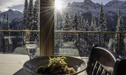 Winter lunch and snowcat ride at Island Lake Lodge in Fernie, B.C.